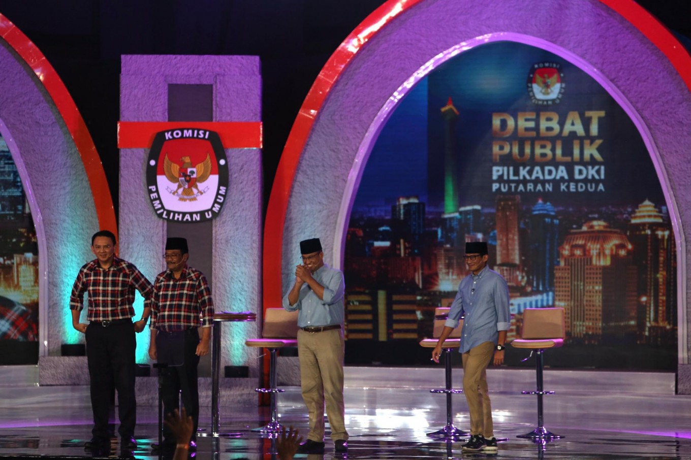 Ahok, Anies neck-to-neck in latest poll