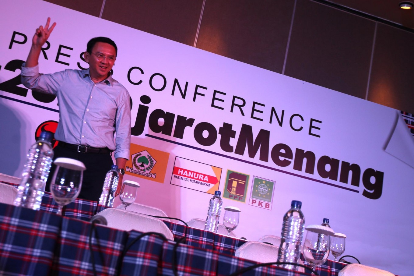 Ahok concedes defeat, calls on supporters to move on