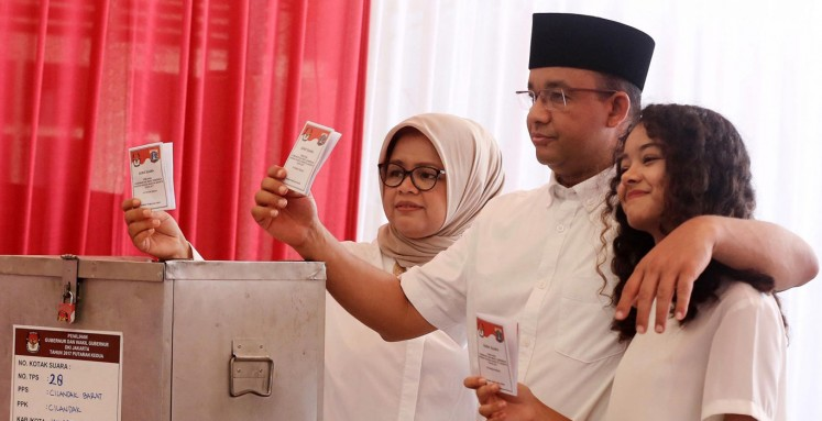Jakarta election proceeds smoothly, peacefully