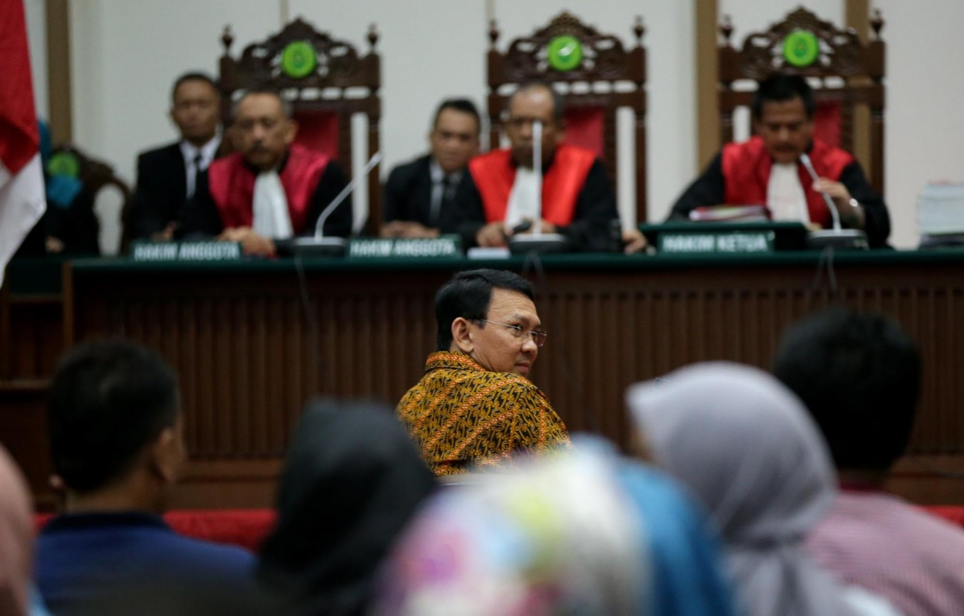 I swim against the tide to tell the truth, Ahok tells judges