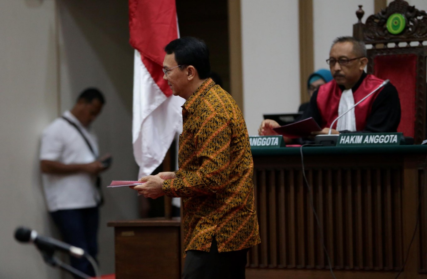Judges to hand down ruling on Ahok on May 9