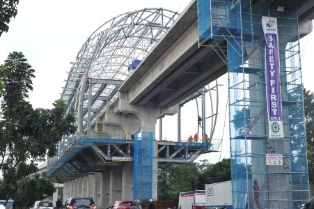 Construction of LRT in Palembang reaches 40 percent