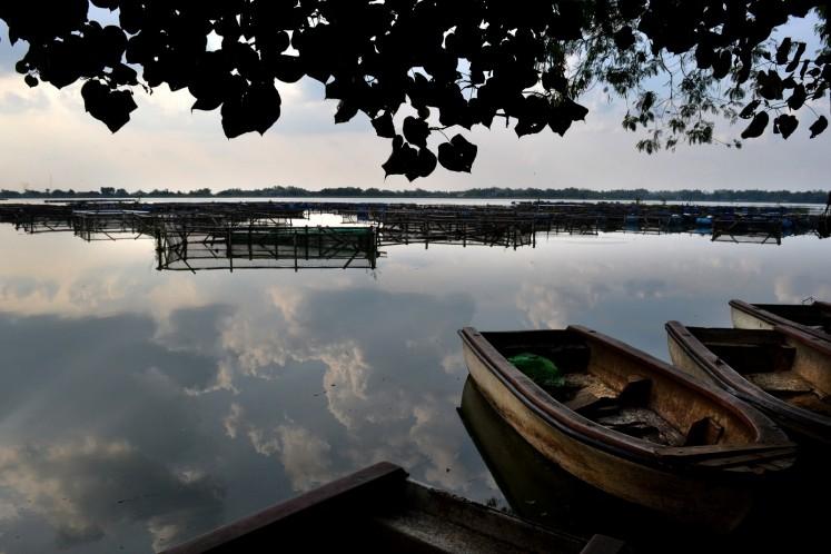 Mulur Reservoir in Sukoharjo offers a scenic tourist attraction