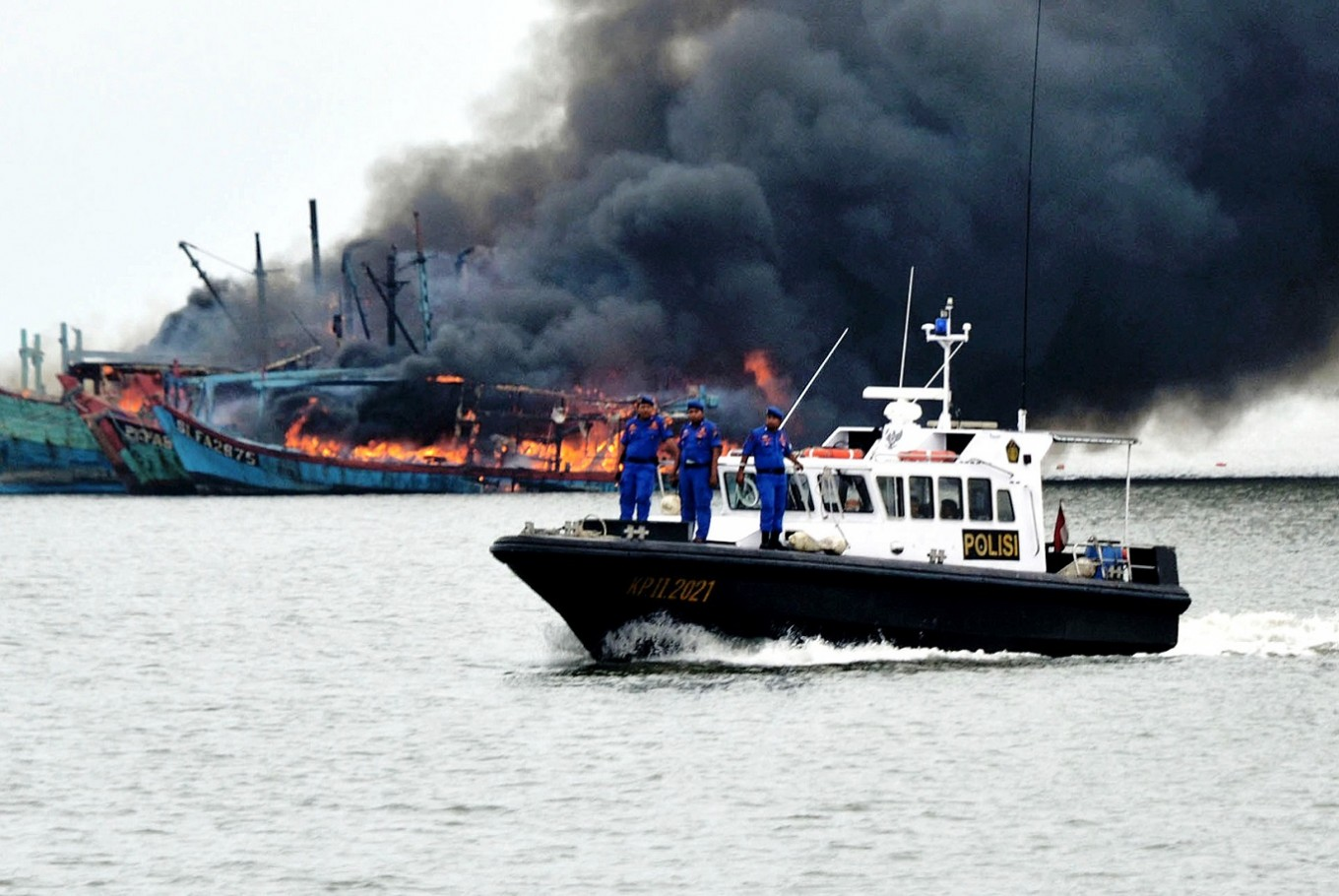 Indonesia sinks three foreign vessels for illegal fishing