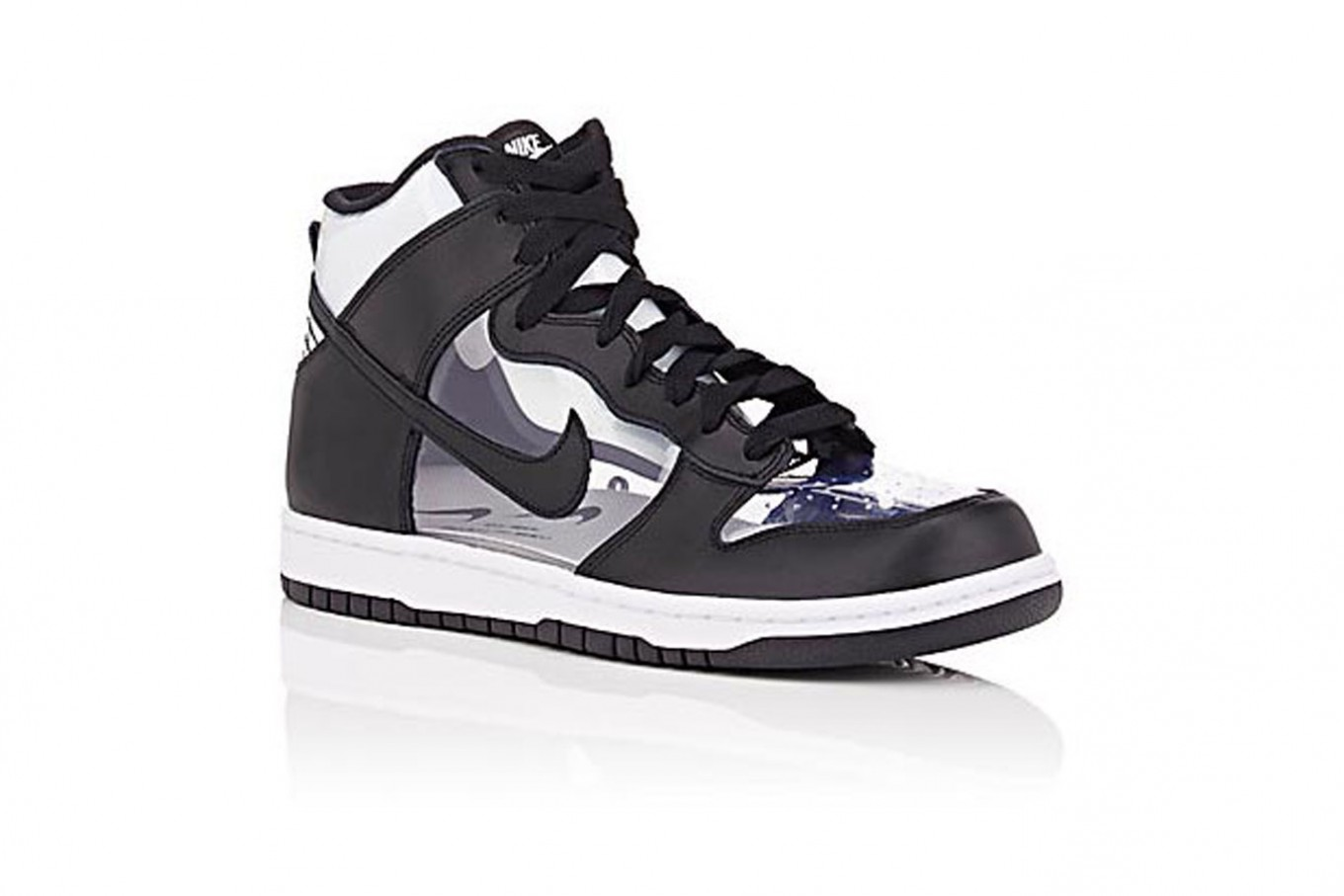 0a9748c6ca3b72 NikeLab x Comme des Garçons Dunk Retro Leather and PVC sneakers ( 320).(Barneys  New York File)