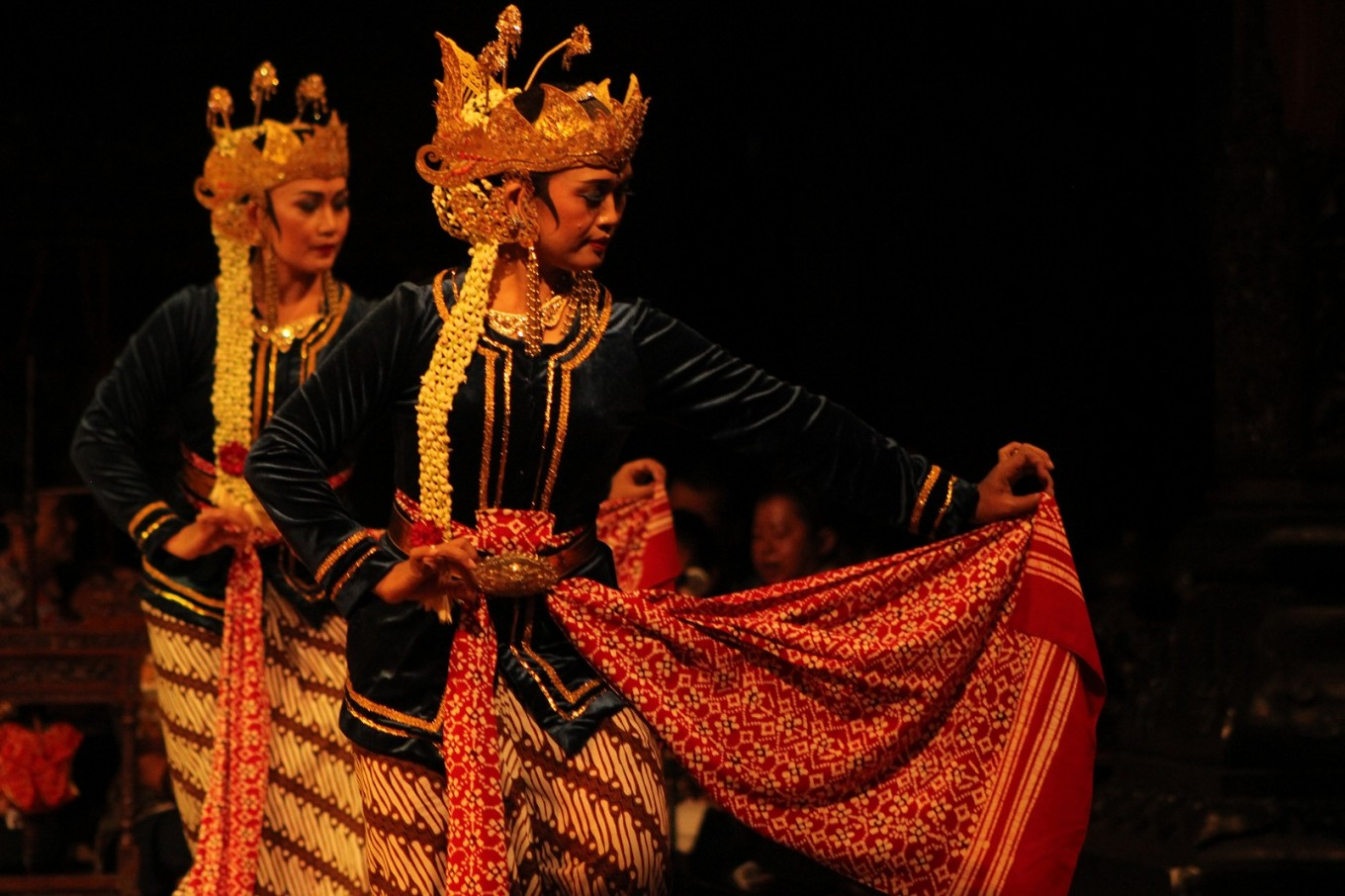 A performance by dancers from Suryo Sumirat dance studio in Surakarta, Central Java.