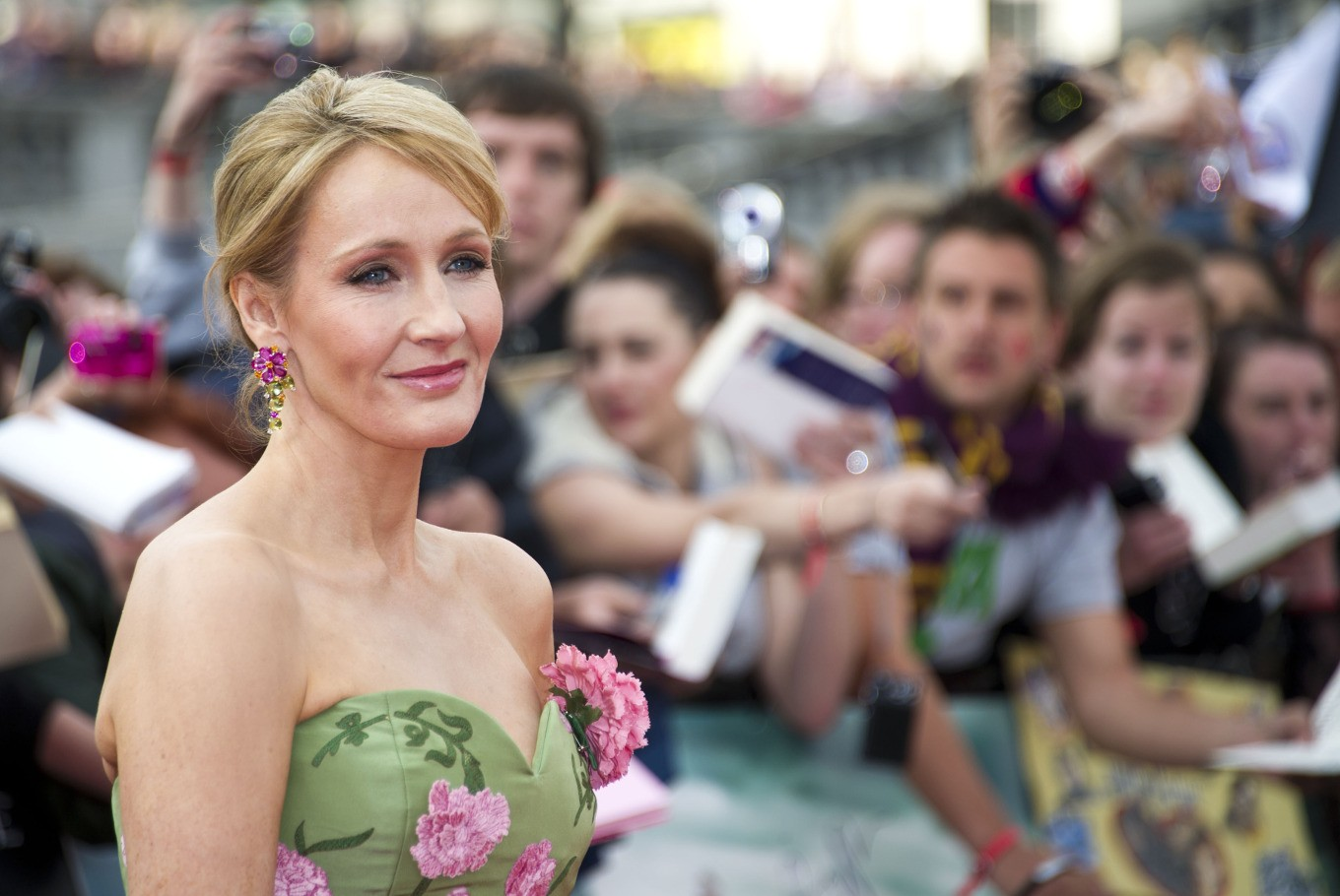 J.K. Rowling reveals 'lost' manuscript written on her party dress