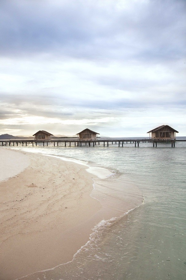 Early morning in the Pulo Cinta Eco Resort .