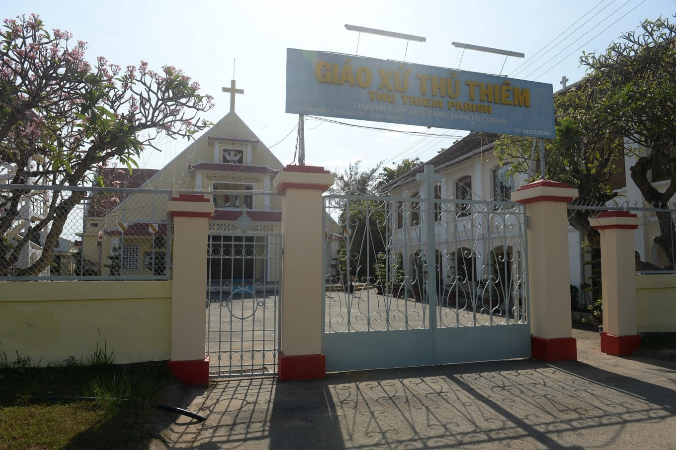 "This picture taken on February 21, 2017 shows the old church of Thu Thiem parish established since 1859 and located on the bank of Saigon river in Ho Chi Minh City (former Saigon). They formed the charming backdrop to Graham Greene's sin-filled city in ""The Quiet American"" but Saigon's colonial buildings are fast disappearing, sparking fears Vietnam's biggest city is becoming another generic Asian megalopolis."