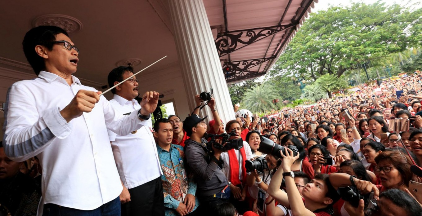 Djarot welcomes songs for Ahok and unity