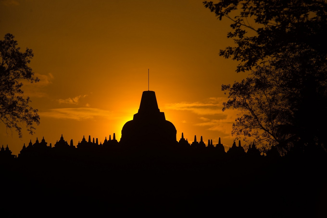 Borobudur Temple in Magelang, Central Java.