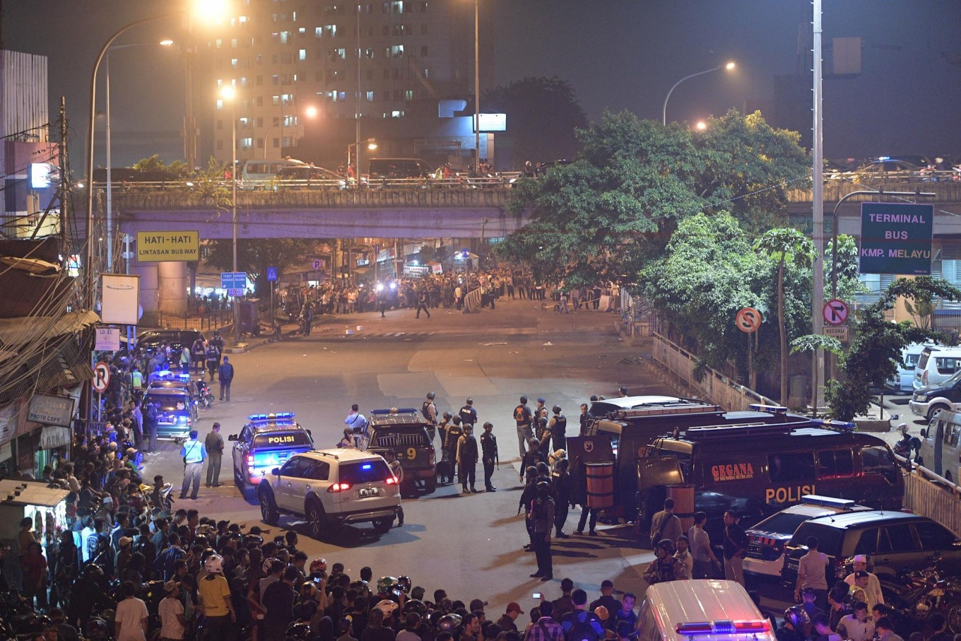 Officers hit by suicide bomb guarding pre-Ramadhan parade: Police