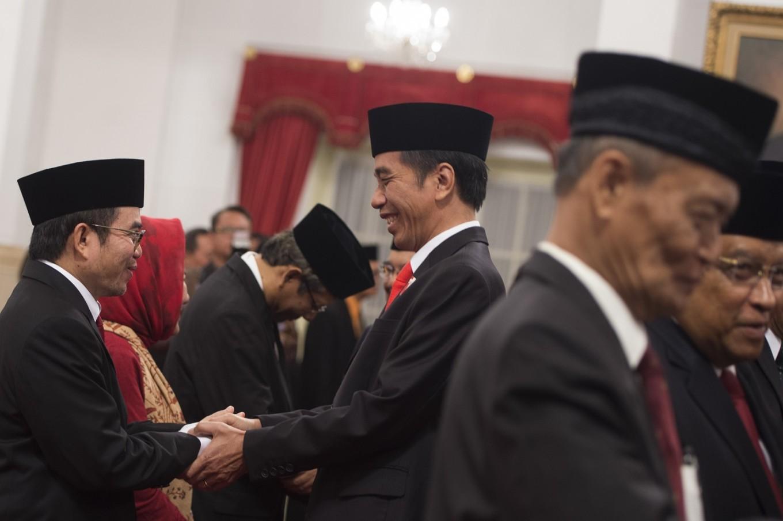 Jokowi inaugurates chief, advisors of Pancasila working unit