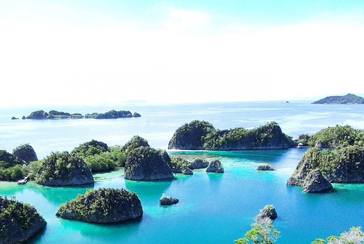 Piaynemo offering magnificent karst islet scenery