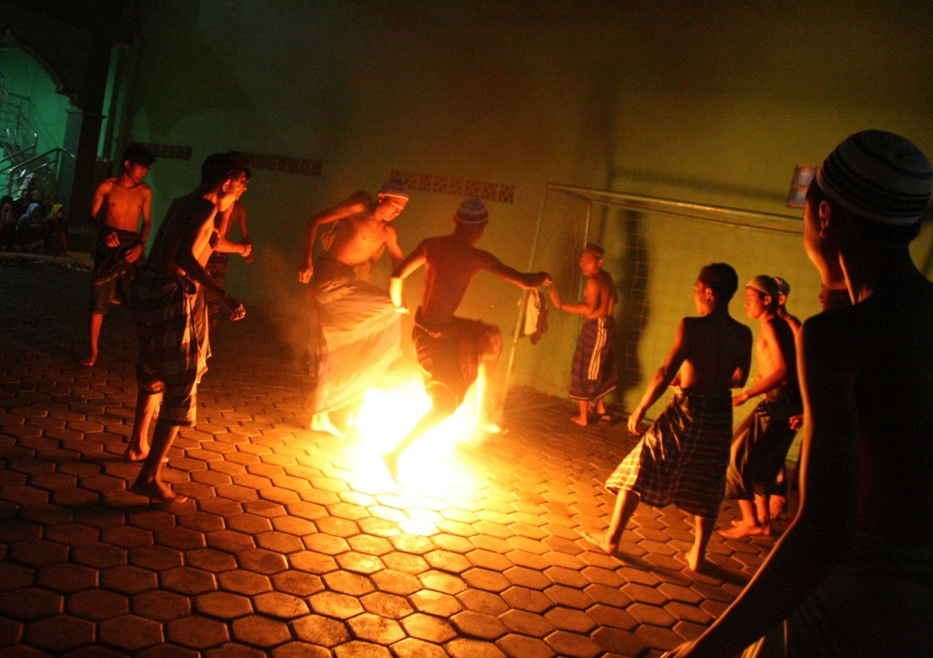 Fire soccer, a unique Ramadhan tradition of 'pesantren' students
