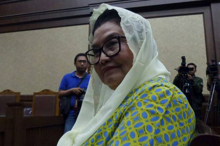 Former Indonesian health minister sentenced to four years for accepting bribes