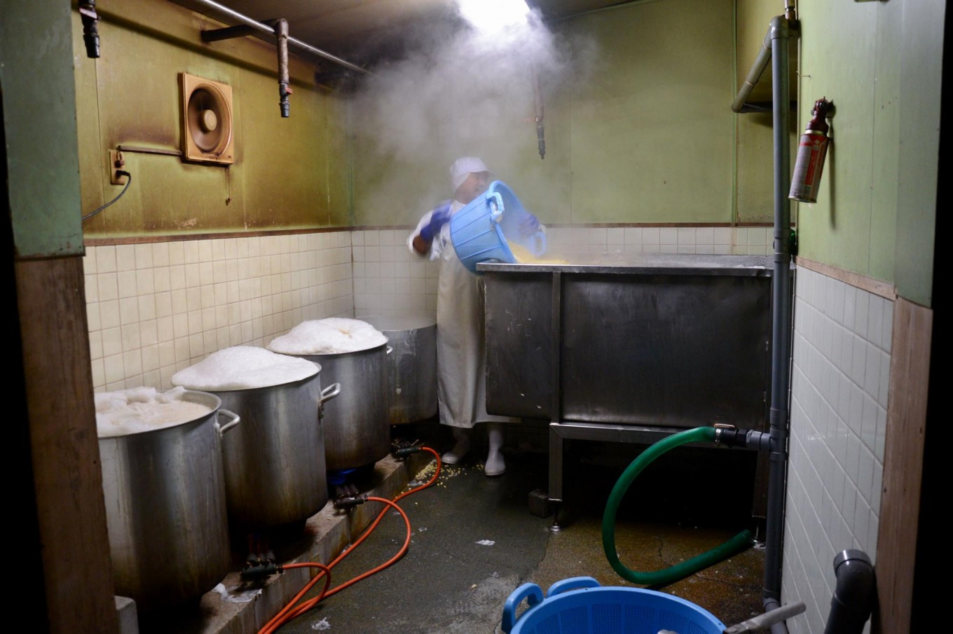 To get the best tempeh, Rustono boils the soy beans all night. JP/Tarko Sudiarno