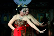 In harmony: The Bedhaya Ginuk dance group is made up of seven women aged 40 to 46. JP/ Wienda Parwitasari
