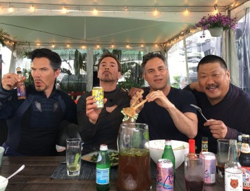 'Avengers' bros hang out over a healthy meal