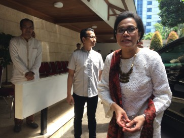 Sri Mulyani and her 'Mrs. Always Right' mug