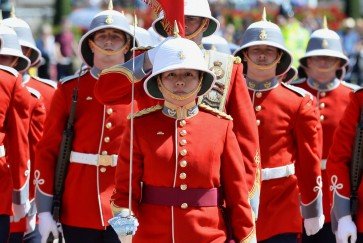 First female infantry captain marks change of the guard in London