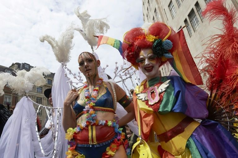 Thousands march in London for gay Pride milestone