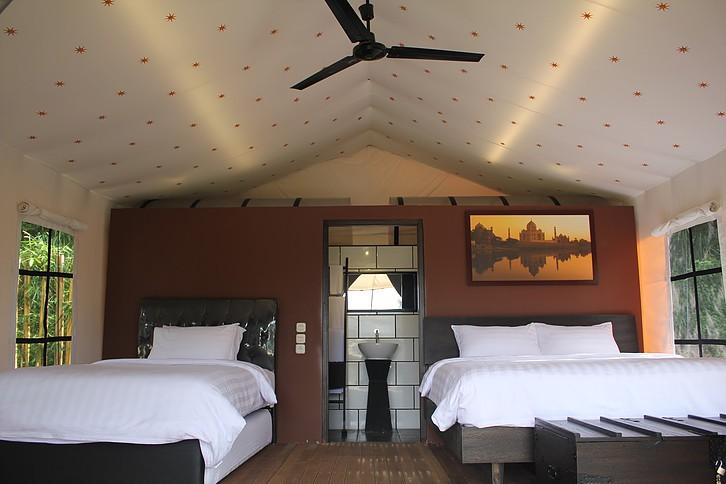 A Nasika tent at Trizara Resorts, Bandung, West Java fits four guests.
