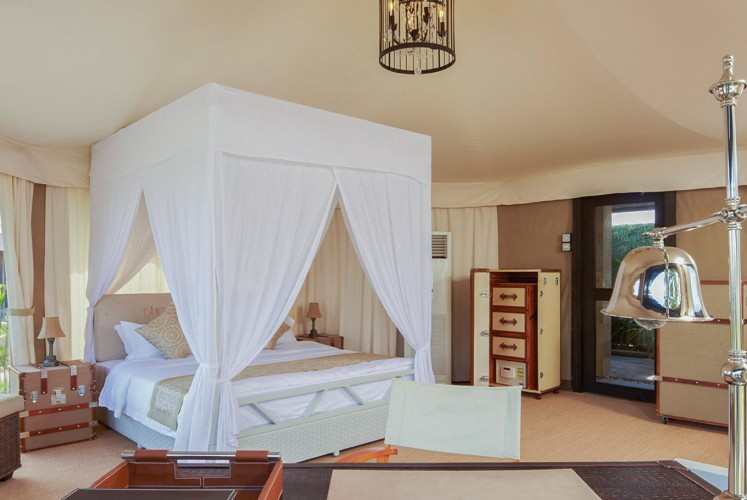 In terms of the accommodation, The Canopi Resort has five different types of safari-themed tents that fit four guests.