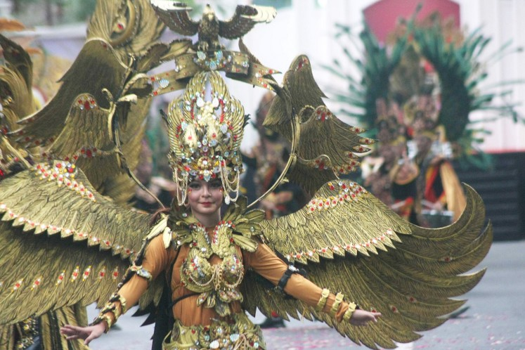 One of the participants in Solo Batik Carnival.