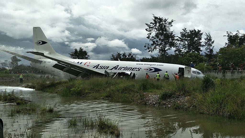Cargo aircraft skids off runway at Wamena Airport