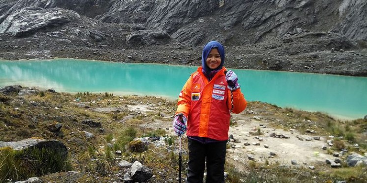 Khansa Syahlaa admitted that there were many challenges during the journey, especially on the descent.
