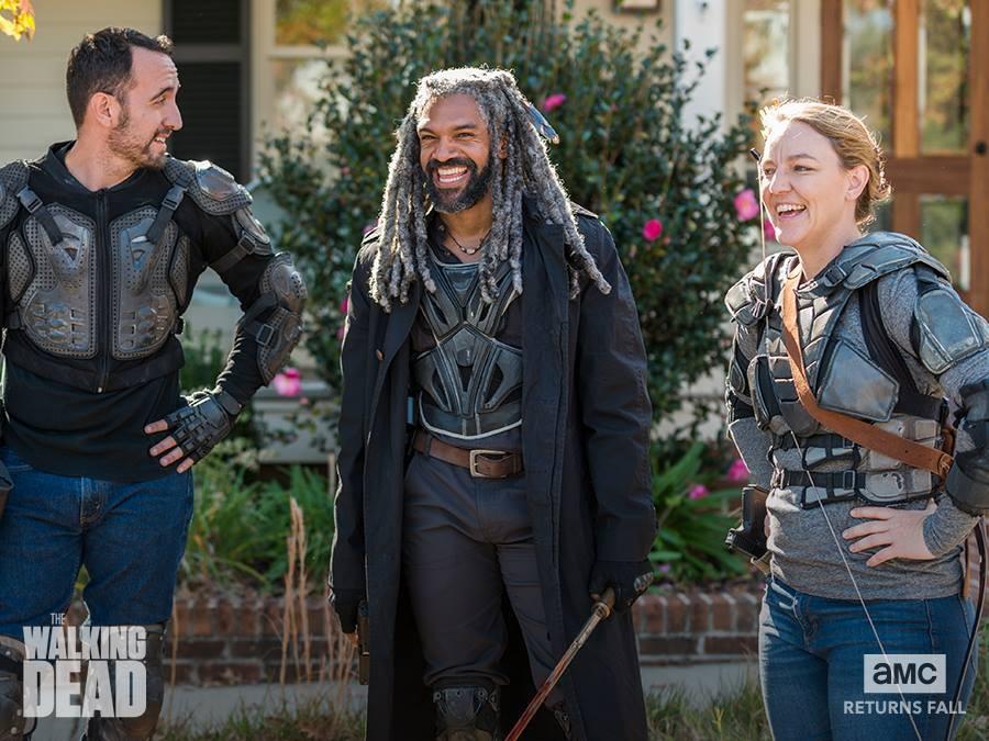 Walking on 'The Walking Dead' set in Atlanta