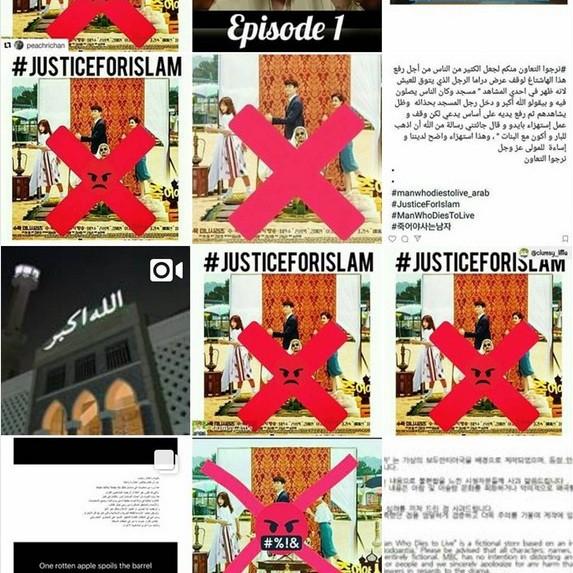 Instagram users promote a boycott on Korean drama 'Man who Dies to Live.'
