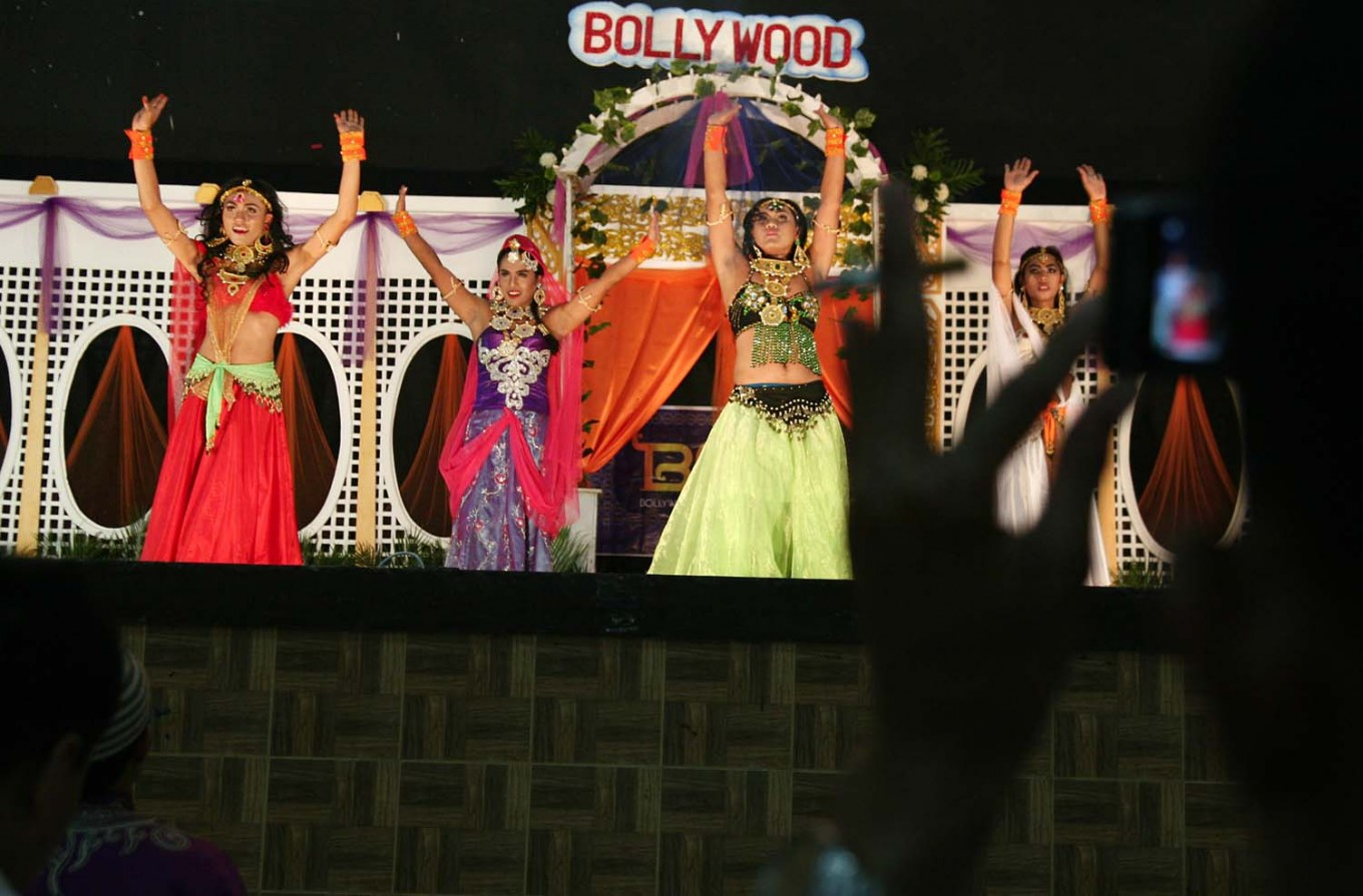 Transgender community members perform a Bollywood-style dance during the festival. JP/Aman Rochman