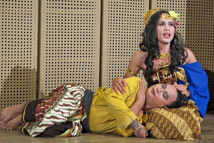 Fresh twist: The popular Sundanese folktale Sangkuriang is given unexpected twists by the Miss Tjitjih theater group.