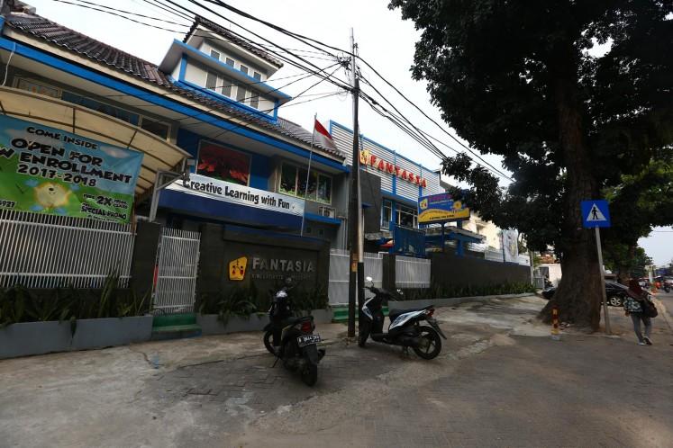 Fantasia, a kindergarten on Jl Gandaria I, South Jakarta, on July 27.