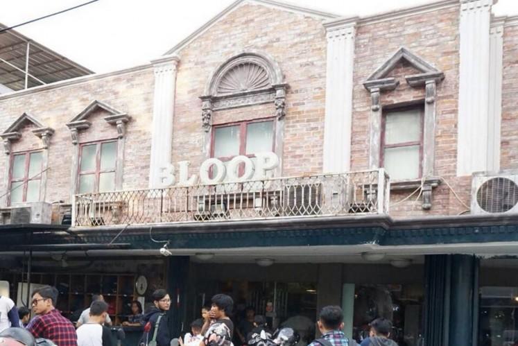 Bloop clothing store in Jl. Tebet Utara Dalam, South Jakarta.