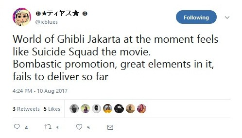 One of the complaints about 'The World of Ghibli Jakarta' exhibition.