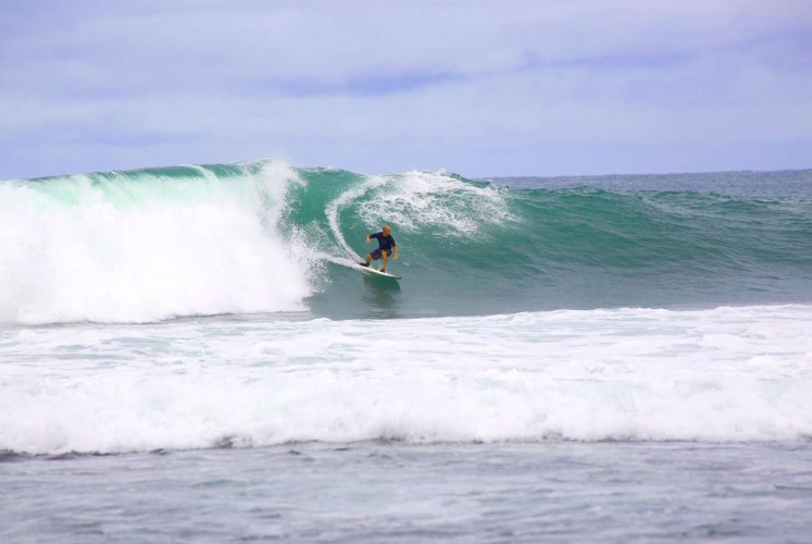 The reef break at Tanjung Layar makes Sawarna a surfer's paradise.