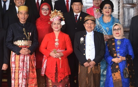Three former presidents join Jokowi to celebrate Independence Day