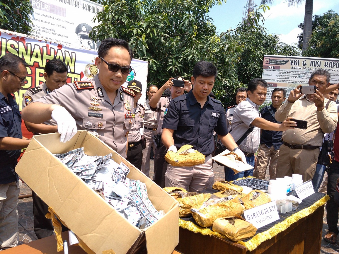 Bogor Police in fight against drugs
