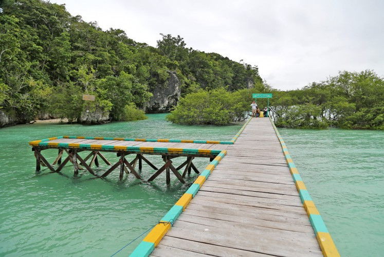 Welcome: A dock at Bair Island.