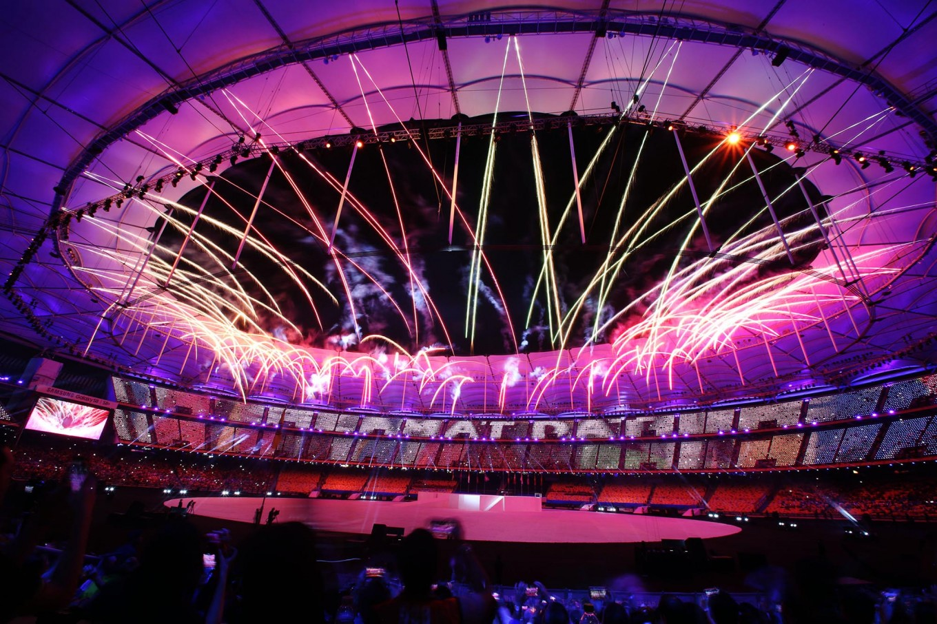 Fireworks amaze spectators during the opening ceremony of the SEA Games in Kuala Lumpur, on Saturday, Aug. 19, 2017. The event will be held until Aug. 30, 2017. JP/Seto Wardhana
