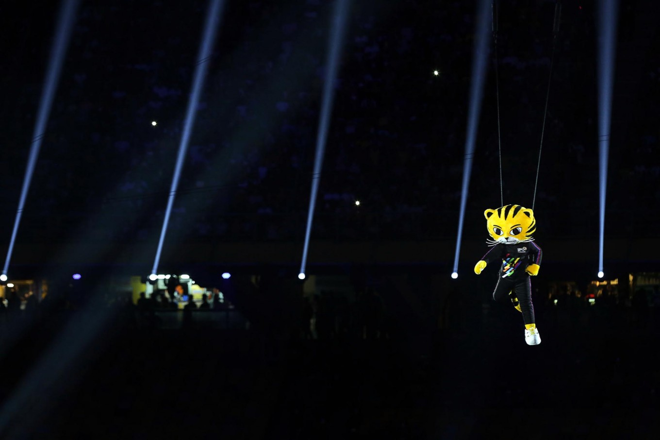 SEA Games mascot Rimau makes an appearance during the opening ceremony of the SEA Games. JP/Seto Wardhana