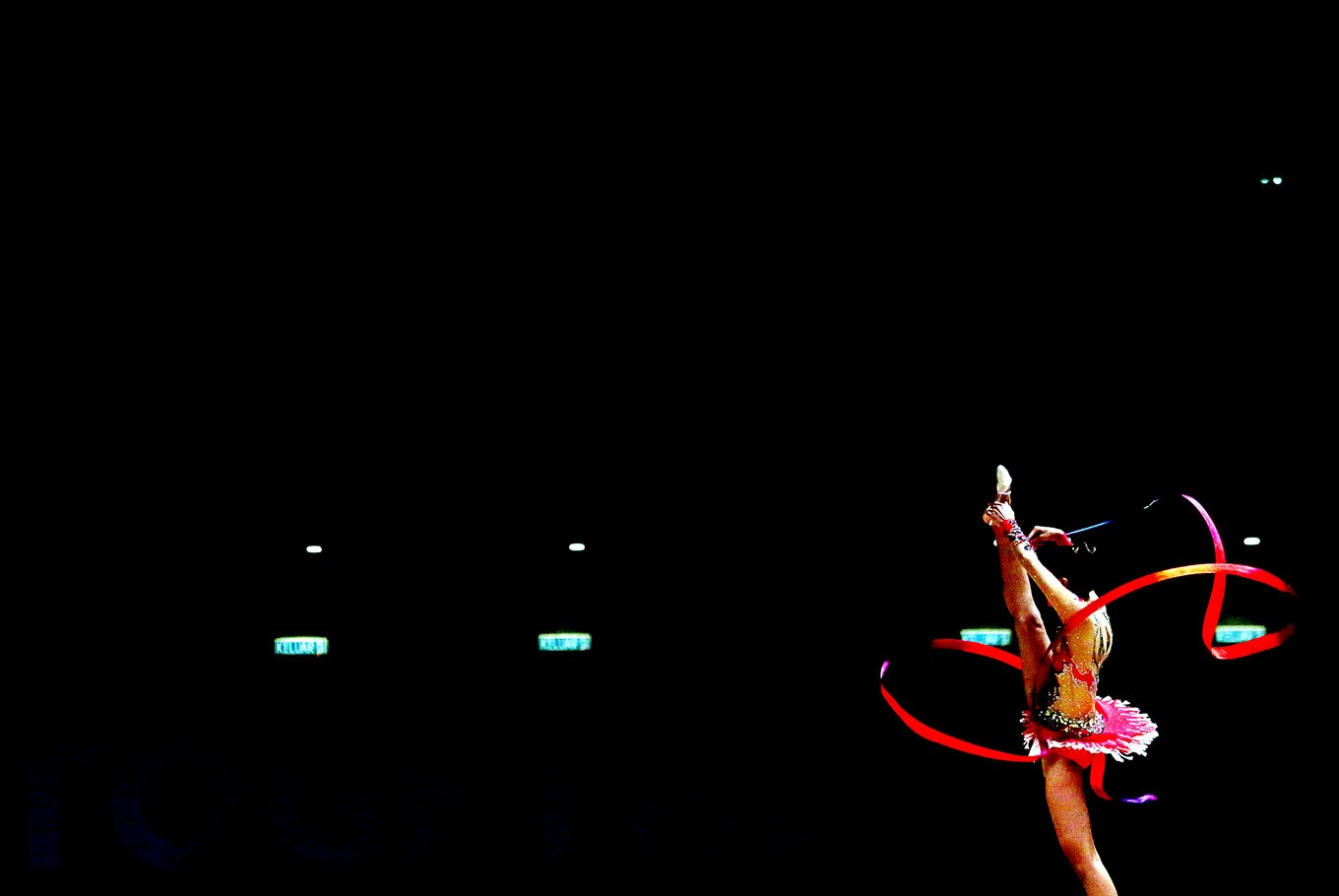 Strike a pose: Gymnast Nabila Evandestiera performs during the 29th SEA Games rhythmic gymnastics women's all-around finals. Indonesia's gymnastic team had won one gold medal, two silvers and six bronze medals as of Monday.
