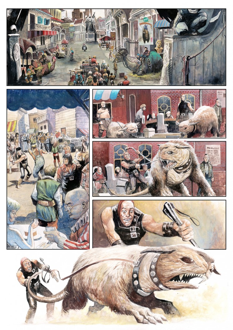 A page of comic book by Apri Kusbiantoro.