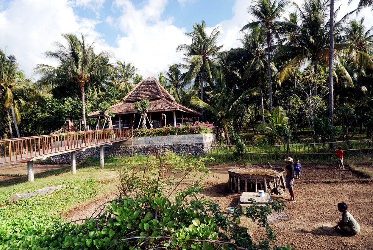 Food and farm: Farmers work next to Warung Tasik on Les Beach, Tejakula, Buleleng.