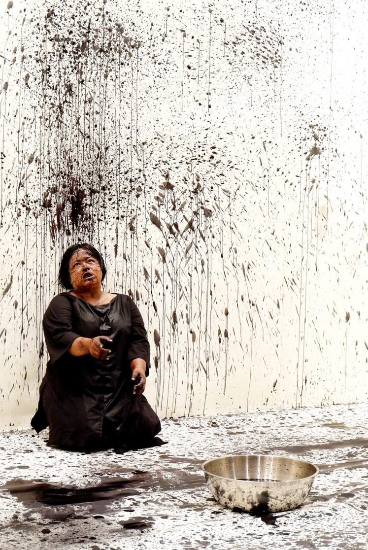 Contemplation: Award-winning artist Melati Suryodarmo stages Eins und Eins (One and One) at Museum MACAN in Jakarta.