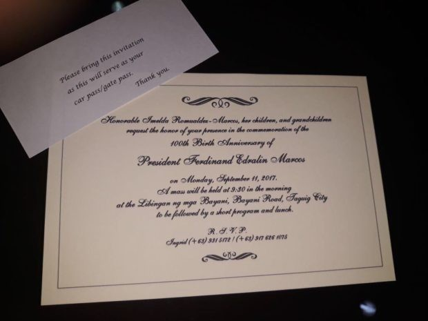 Militant lawmaker pukes on Marcos 100th birthday party invite – Birthday Party Invitation Email