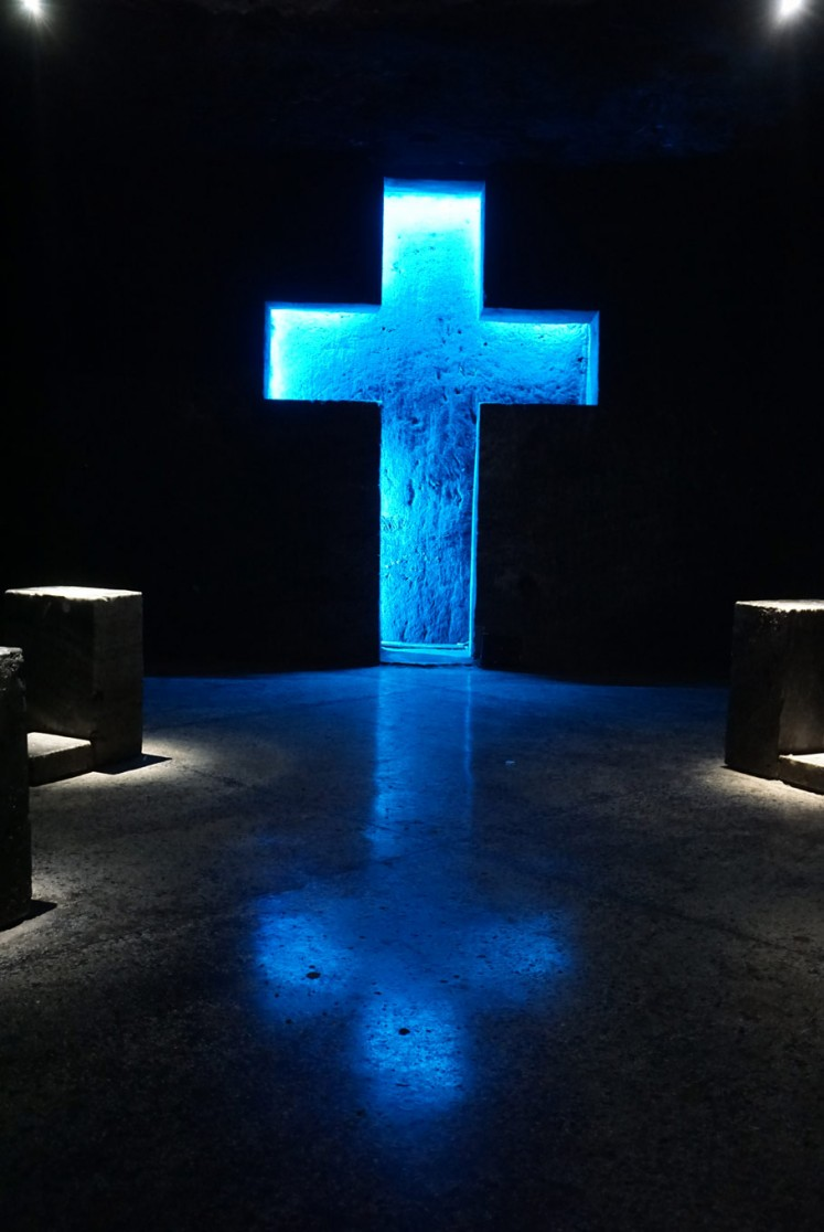 One of the tunnels in the Salt Cathedral is the Way of the Cross.